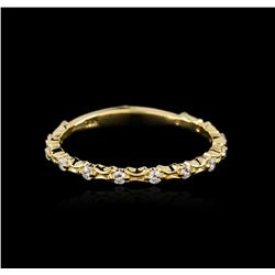 18KT Yellow Gold 0.23ctw Diamond Ring
