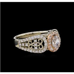 14KT Two-Tone Gold 1.12ctw Diamond Ring