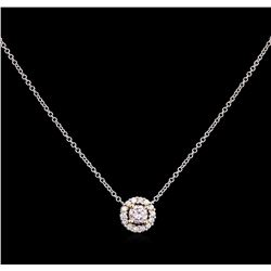 0.57ctw Diamond Necklace - 14KT Two-Tone Gold