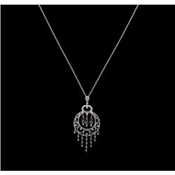 0.26ctw Diamond Pendant With Chain - 18KT White Gold