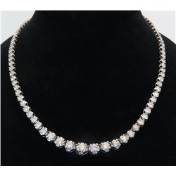 10.00ctw Diamond Necklace - 18KT White Gold