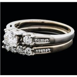 14KT White Gold 1.00ctw Diamond Wedding Ring Set