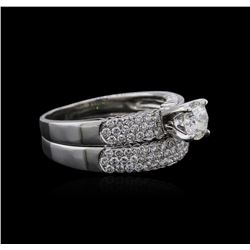 14KT White Gold 1.27ctw Diamond Ring