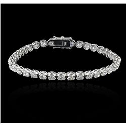 14KT White Gold 6.72ctw Diamond Tennis Bracelet