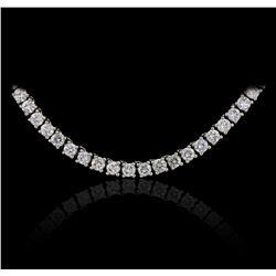 10KT White Gold EGL USA Certified 20.85ctw Diamond Necklace