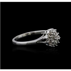 14KT White Gold 0.10ctw Diamond Ring
