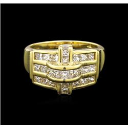 1.00ctw Diamond Ring - 18KT Yellow Gold