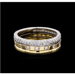 0.85ctw Diamond Ring - 14KT Two-Tone Gold