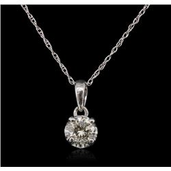 14KT White Gold 0.25ct Diamond Pendant With Chain