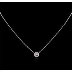 0.57ctw Purple Diamond Necklace - 14KT Two-Tone Gold