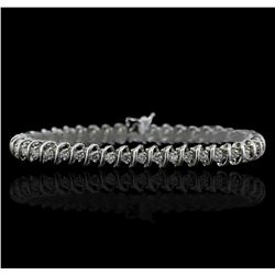 14KT White Gold 3.37ctw Diamond Tennis  Bracelet