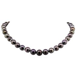0.40ctw Tahitian Cultured Pearl and Diamond Necklace