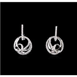 0.50ctw Diamond Earrings - 14KT White Gold