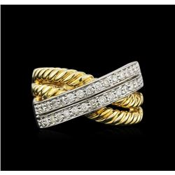 0.75ctw Diamond Ring - 14KT Two-Tone Gold