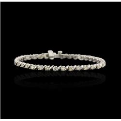 14KT White Gold 2.67ctw Diamond Tennis Bracelet