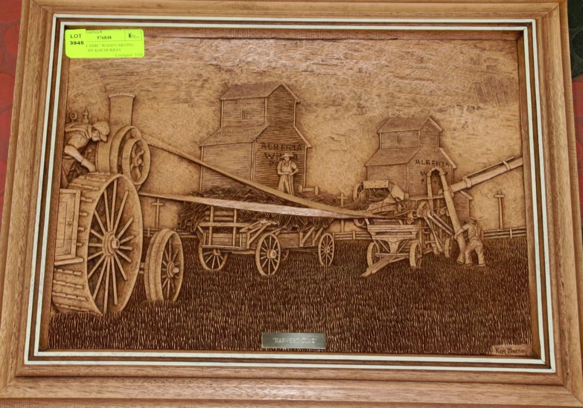 Quot harvest time wood carving picture by kim murray