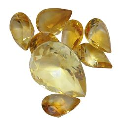 15.44ctw Pear Mixed Citrine Quartz Parcel