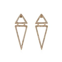 14KT Rose Gold 0.90ctw Diamond Earrings