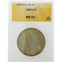 1885-O $1 Morgan Silver Dollar ANACS Graded MS63