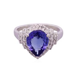 14KT White Gold 2.41ct Tanzanite and Diamond Ring