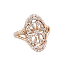 14KT Rose Gold 0.52ctw Diamond Ring