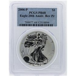 2006-P Silver Eagle 20th Anniversary Reverse Proof PCGS PR68