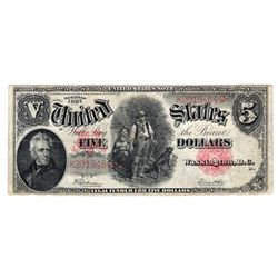 1907 $5 Large Size Woodchopper Legal Tender Note