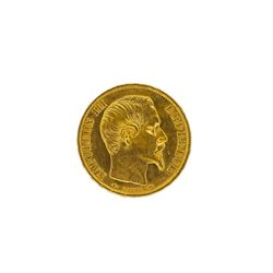 1860A France 20 Francs Gold Coin