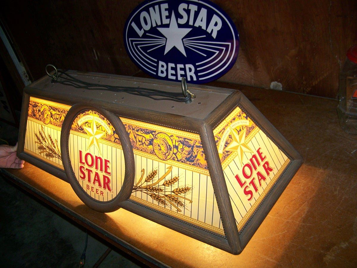 Etonnant Vintage Lone Star Beer Pool Table Light, 41 X 17 X14 , We Will Ship.  Loading Zoom