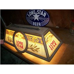 "Vintage Lone Star Beer Pool Table Light, 41"" x 17"" x14"", We Will Ship. 4Q"