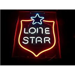 "OLD-NEW STOCK! Lone Star Badge NEON Beer Sign, Unused, 16""x20"", NO SHIPPING, Never Hung"