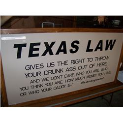 "Texas Dance Hall Oak Framed Custom Sign on Sign Board, 50""x26.5"", NO SHIPPING, PICK-UP ONLY"