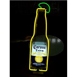 "Corona Bottle NEON Beer Sign, 9""x36"", NO SHIPPING, PICK-UP ONLY"