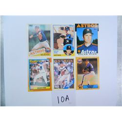 Six (6) 1993 Brookshire Brothers (Grocery Chain) Nolan Ryan Stickers, All One Money, 5 Astros