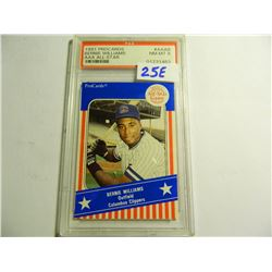 1991 ProCards #AAA8 Bernie Williams AAA All-Star Card, PSA graded 8, Columbus Clippers, Minor League