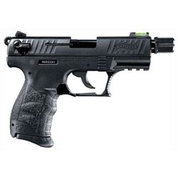 "WALTHER P22 .22LR 3.4"" AS 10SH TACTICAL BLACK POLYMER (TALO), NEW IN BOX, #5120352, Z"