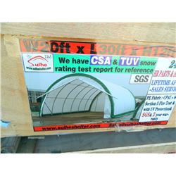 20'Wx30'Lx12'H Suihe Heavy Duty Storage Building, NEW-UNUSED, refer to Suieheshelter.com for info