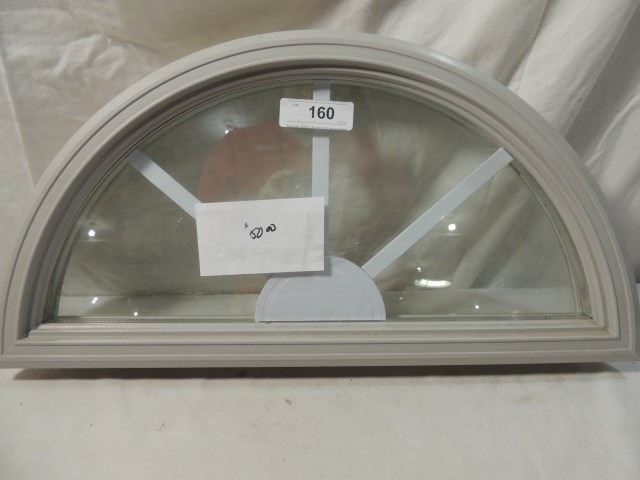 Image 1  NEW GLASS u0026 INSERT HALF MOON DOOR INSERT 12  X 24 & NEW GLASS u0026 INSERT HALF MOON DOOR INSERT 12