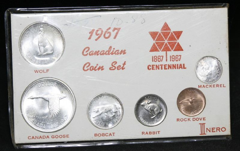 1967 Canadian Centennial Coin Set In Nero Holder
