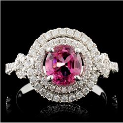 18K White Gold 1.33ct Spinel & 0.53ct Diamond Ring