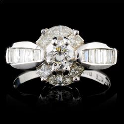 18K White Gold 1.60ctw Diamond Ring