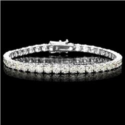 ^18k White Gold 12.00ct Diamond Tennis Bracelet