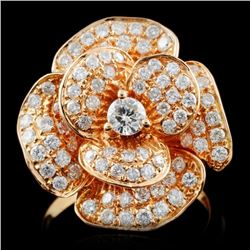 18K Rose Gold 1.01ctw Diamond Ring