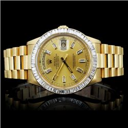 Rolex Day-Date Men's 3.50ct Diamond Wristwatch