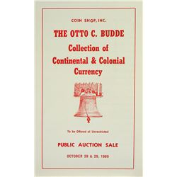 Scarce Budde Sale of Colonial & Continental Currency