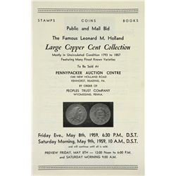 Pennypacker Sale of Holland Large Cent Collection