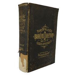 1886 Bankers' Directory with Special Advertising Sheets, &c.