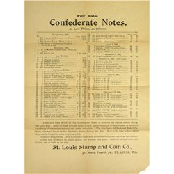 St. Louis Stamp & Coin List of CSA Notes
