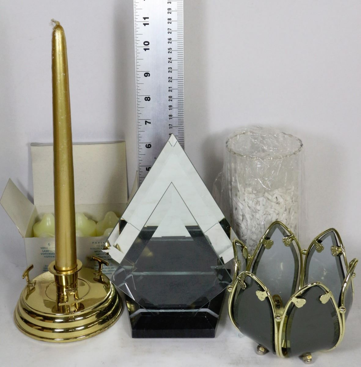 Flat with partylite myriad images candle holder for Flat candle holders