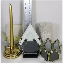 Flat with partylite myriad images candle holder kastner for Flat candle holders